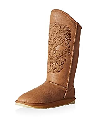 Australia Luxe Collective Women's Nastrond Tall Shearling Boot with Embroidered Skull On Front Shaft