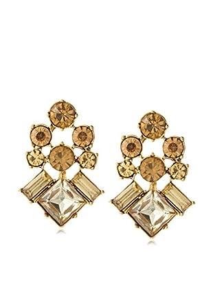 Stella & Ruby Golden Four Corner Stud Earrings