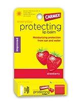 Carmex Strawberry Moisturizing Flavor Lip Balm Stick SPF 15 (Quantity of 9)