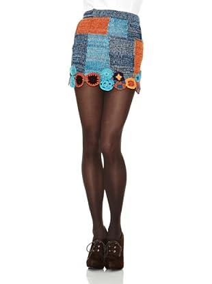 Peace & Love Falda Malcolm (Naranja / Azul)
