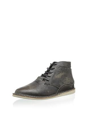 Oliberte Men's Zimbo Chukka Boot (Black/Grey Pullup)