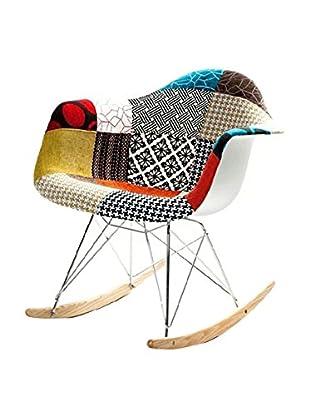 Manhattan Living Patterned Rocker Arm Chair, Multi