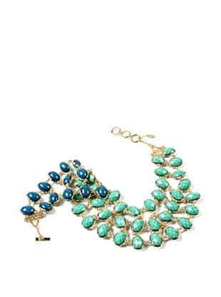 Amrita Singh Collar Hampton Reversible Bib Azul / Turquesa