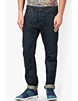 Dark Blue Regular Fit Jeans (mike) Jack & Jones