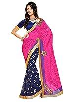 Gopalclothdesigner Brasso Resham Saree (iwgy153_Multicolor)