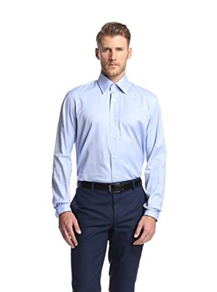 Nikky Men's Hand-Made Shirt Regular Fit (Blue Twill)
