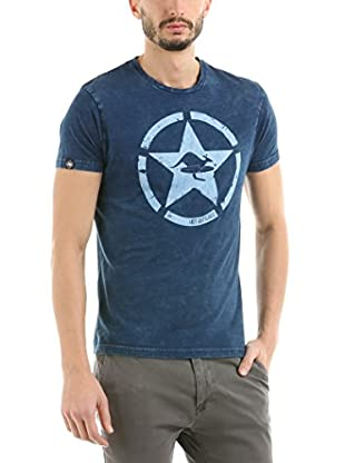 Hot Buttered T-Shirt Circle Star (Indigo)