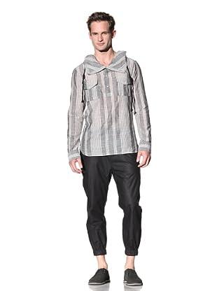 Nicholas K Men's Meyer Hoody Lightweight Woven Shirt (Black)