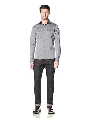 Dorsia Men's Kurt Slim Fit Shirt (Chambray)