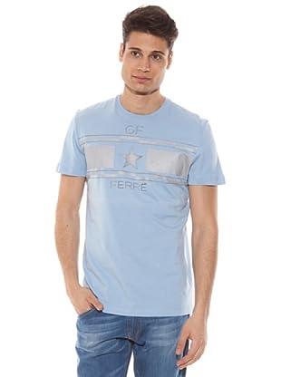 Gianfranco Ferré Camiseta Manga Corta Estampado (Azul Claro)