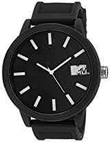 MTV Analog Black Dial Men's Watch - B7002BK