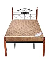 FurnitureKraft Single Bed Black and Brown