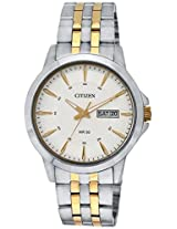 Citizen Analog White Dial Men's Watch - BF2014-53A