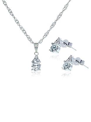 Diamond Style Set Kette, Anhänger und Ohrringe Trinity