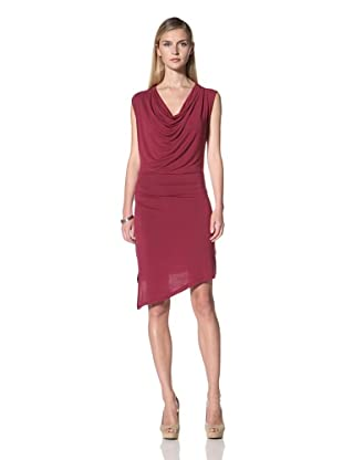 Poleci Women's Jersey Dress with Back Panel (Crimson)