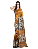 Divine Fashion Creation Art Silk Saree (DFCA12_Yellow)