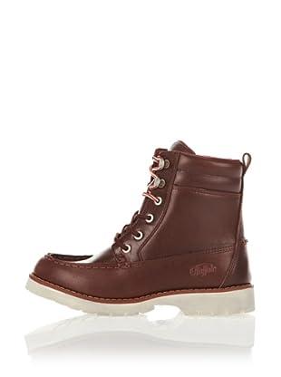 Buffalo London Botines Pull Up Leather (Granate)
