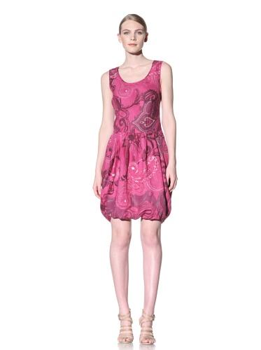 Lafayette 148 New York Women's Printed Bubble Hem Dress (Peony Multi)