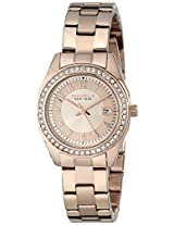 Caravelle by Bulova Crystal Analog Champagne Dial Women's Watch - 44M103