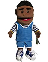 "Sunny Toys 14"" Ethnic Boy In Blue Top Glove Puppet"