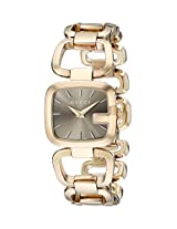 Gucci Women's YA125511 G-Gucci Brown Sun Brushed Dial Watch