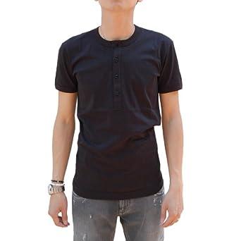 ドルチェ&ガッバーナ ロゴチケット付き無地半袖ヘンリーネックTシャツ