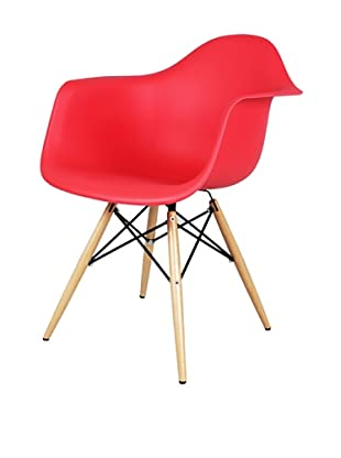 Control Brand Mid-Century-Inspired X-Leg Arm Chair (Red)