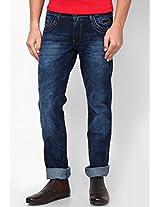 Dark Blue Regular Fit Jeans (Rockville)