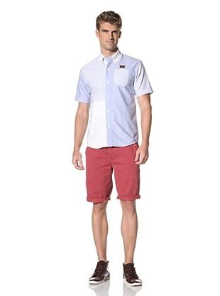 Under 2 Flags Men's Short Sleeve Woven Shirt (Dusty Blue)