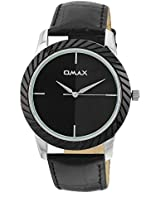 OMAX Black Dial Analogue Watch for Men (TS500)