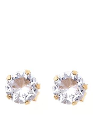 Vip de Luxe Pendientes Cristal  Dorado