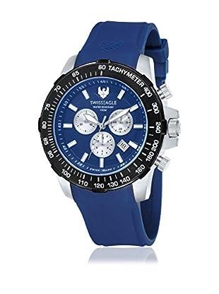 Swiss Eagle Uhr mit Schweizer Quarzuhrwerk Herzog blau 45 mm