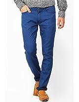 Solid Blue Slim Fit Jeans