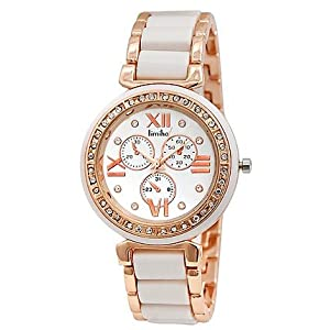 Timiho White Metal Analog Women Watch TM LR904 WHT CH