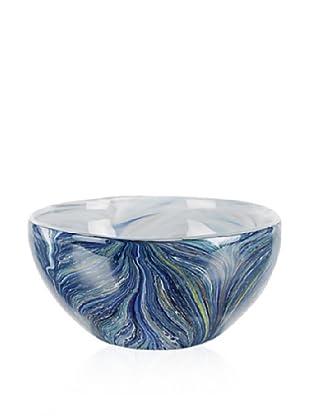 Badash Crystal Art Glass Renoir Bowl, Blue Multi