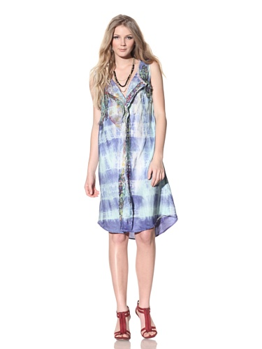 Gregory Parkinson Women's Sleeveless Beach Dress (Turquoise)