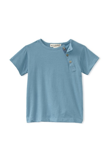 Peas and Queues Boy's Miles Henley Tee (Blue)