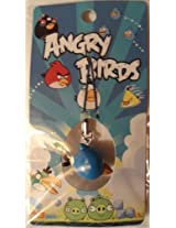 Angry Birds Cell Phone Charm Keychain - Blue Bird