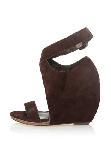 Joe's Jeans Women's Candy Ankle Wrap Sandal (Dark Brown)