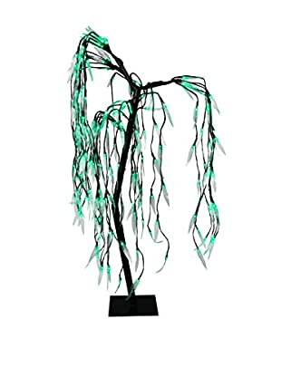 River of Goods LED Indoor/Outdoor Willowing Tree, Green