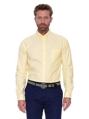 Cortefiel Camisa Oxford Liso Colores (Amarillo)