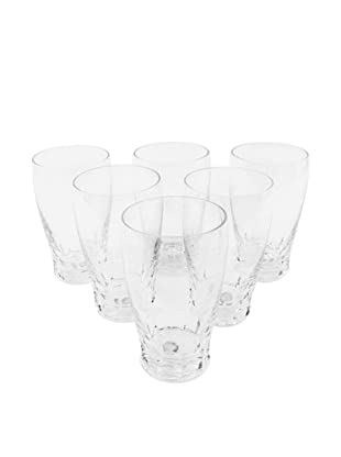 Set of 6 St. Lambert Crystal Water Glasses, Clear