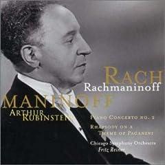 CD ルービンシュタイン独奏 F.ライナー指揮 ラフマニノフ : ピアノ協奏曲第2番&パガニーニ狂詩曲組曲の商品写真