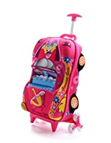 T-Bags For Kids 3D Car Princess Pink Children's Tolley Bag