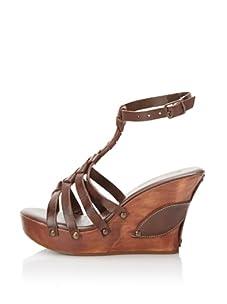 BED:STU Women's Corina Wedge Sandal (Brown)