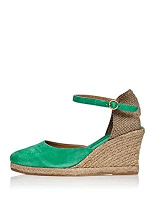 Cortefiel Keil-Sandalette Yuta (Grün/Beige)