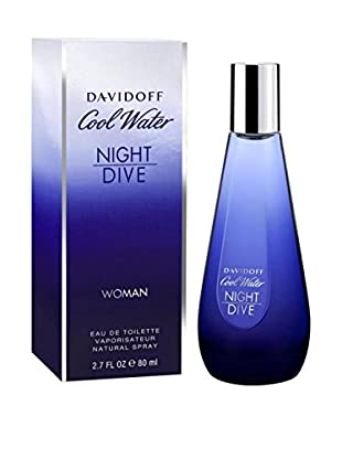 DAVIDOFF Eau de Toilette Damen Cool Water Night Dive 80 ml, Preis/100 ml: 58.68 EUR