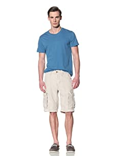 Tailor Vintage Men's Linen Cargo Short (Natural)