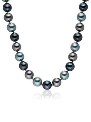 Perldor - 60650206 Collar de mujer Gris de ley con perla natural Azul 50 cm