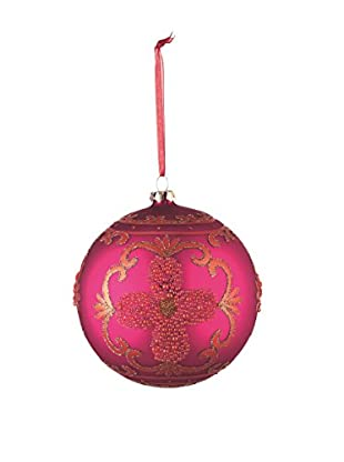 Napa Home & Garden Ornate Glass Ball Ornament, Fuchsia